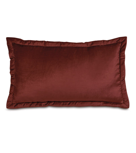"Majestic Velvet King Sham Cover in Spice 21""x37"""