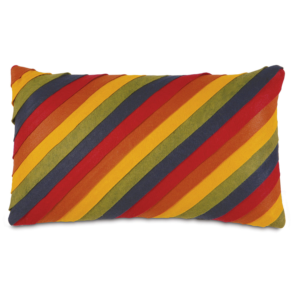 "Exotic Striped Decorative Lumbar Pillow Cover 13"" x 22"""