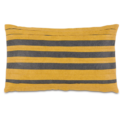 "Citron Rugby Stripe Decorative Pillow Cover 13"" x 22"""