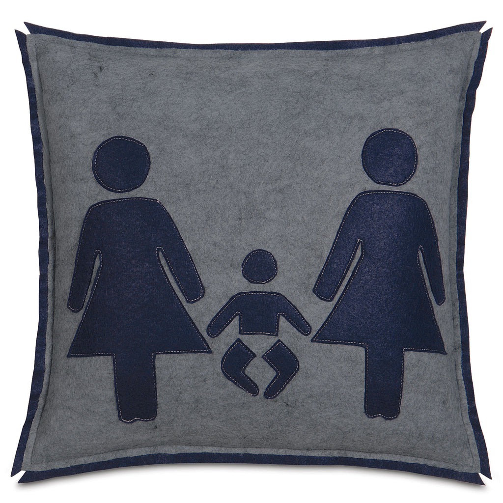 "Woman Empowered Family Union Felt Decorative Pillow Cover 18"" x 18"""
