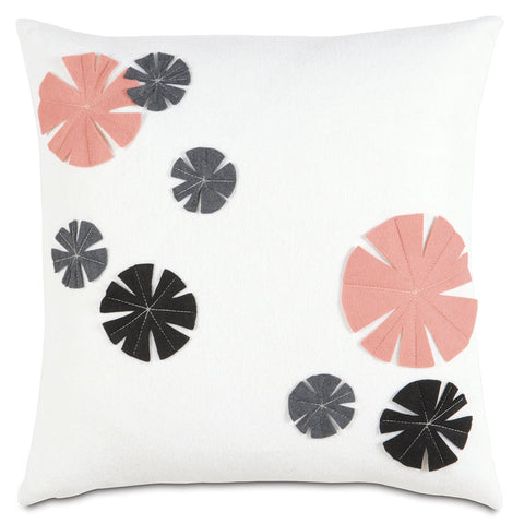 "Winter Camellia Decorative Pillow Cover 16"" x 16"""