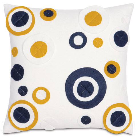 "Yellow Clicquot Bubbly Decorative Pillow Cover 16"" x 16"""
