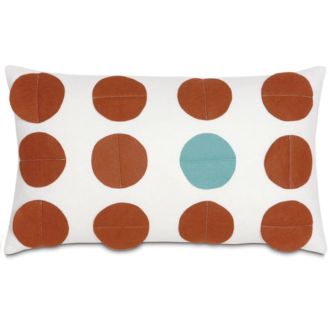 "Cream and Rust I'M Unique Decorative Pillow 13""x22"""