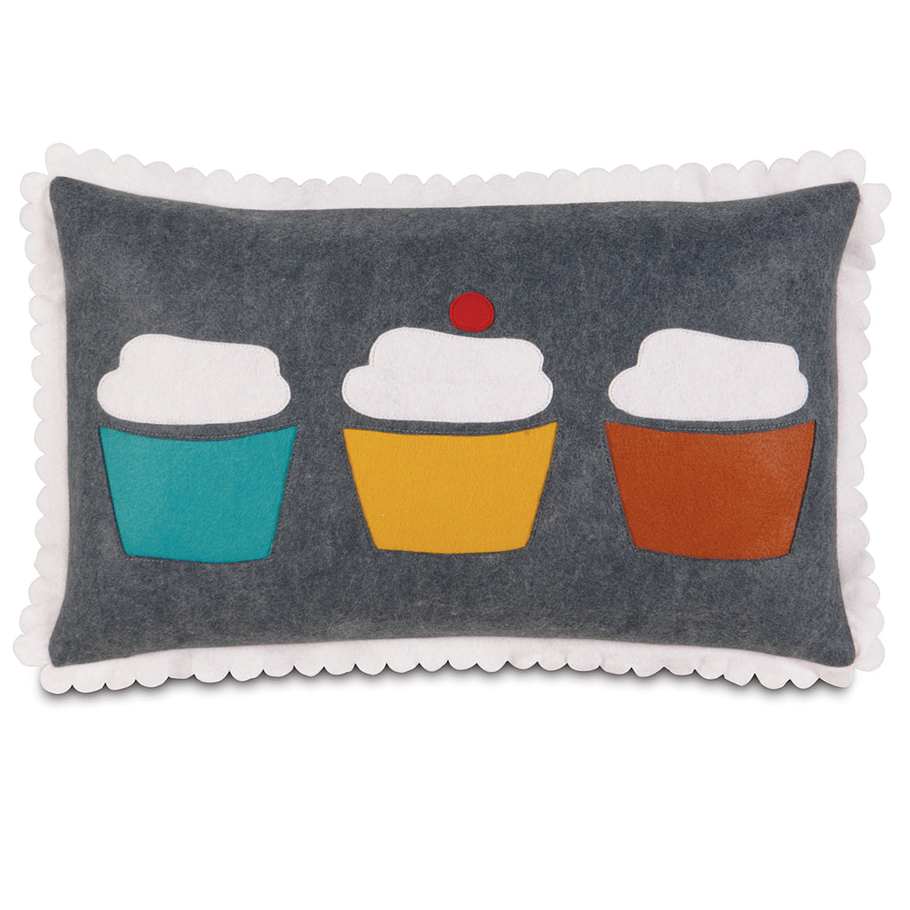 "Cupcake Window Shop Decorative Pillow Cover 13"" x 22"""