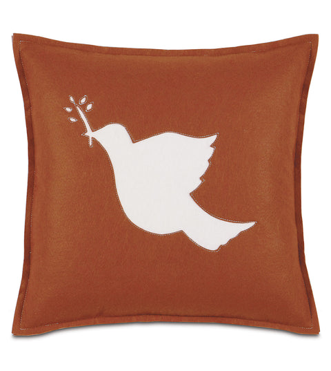 "Peace Offering Dove Decorative Pillow Cover 16""x16"""