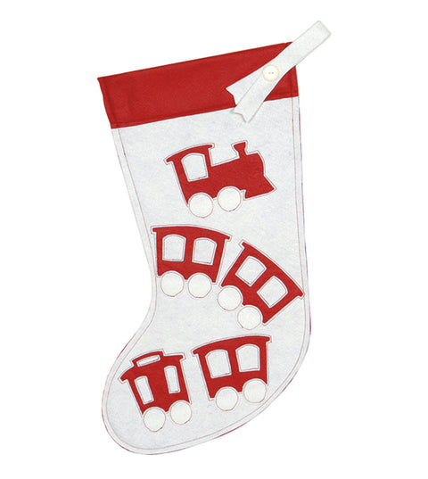 "Choo Choo Train Felt Stocking 20""x12"""