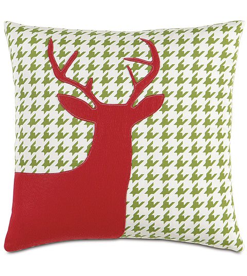"Prancer Decorative Holiday Pillow Cover 18""x18"""
