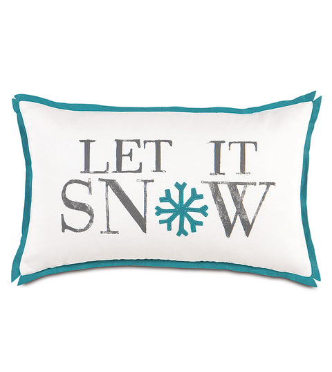 "Snow Day Decorative Pillow Cover 13""x22"""