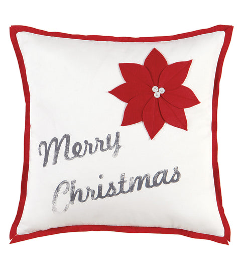 "Christmas Cheer Decorative Pillow Cover 18""x18"""
