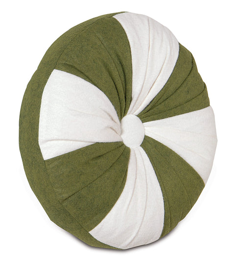 "Holly Mint Round Decorative Pillow Cover 14""DX2"