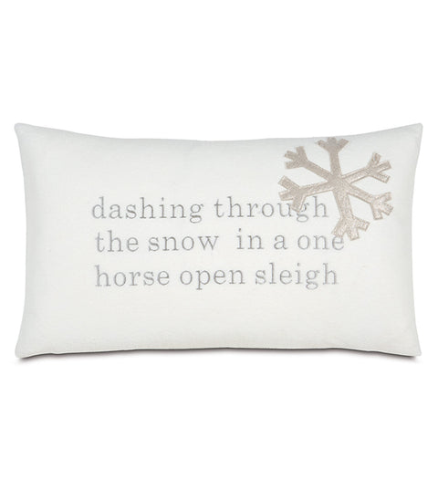 "13"" x 22"" Dashing through the snow Pillow Cover"