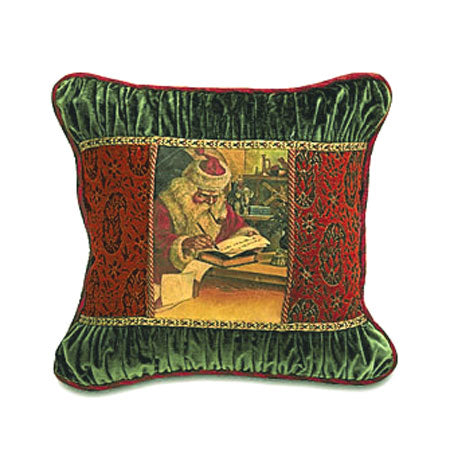 "'Santa's Nice List' Decorative Throw Pillow 20""x20"""
