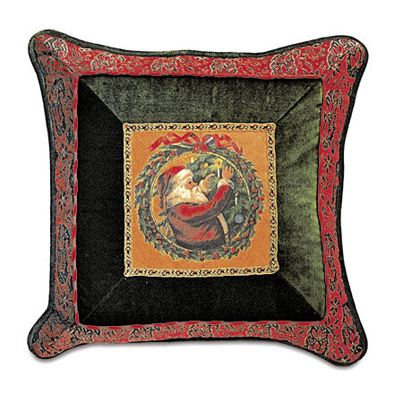 "St. Nick Dressing a Tree Decorative Pillow 20""x20"""