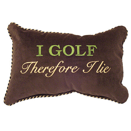 I golf therefore I lie