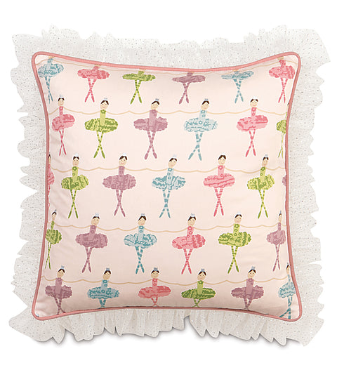 "20"" x 20"" Ballerina Decorative Pillow Cover"