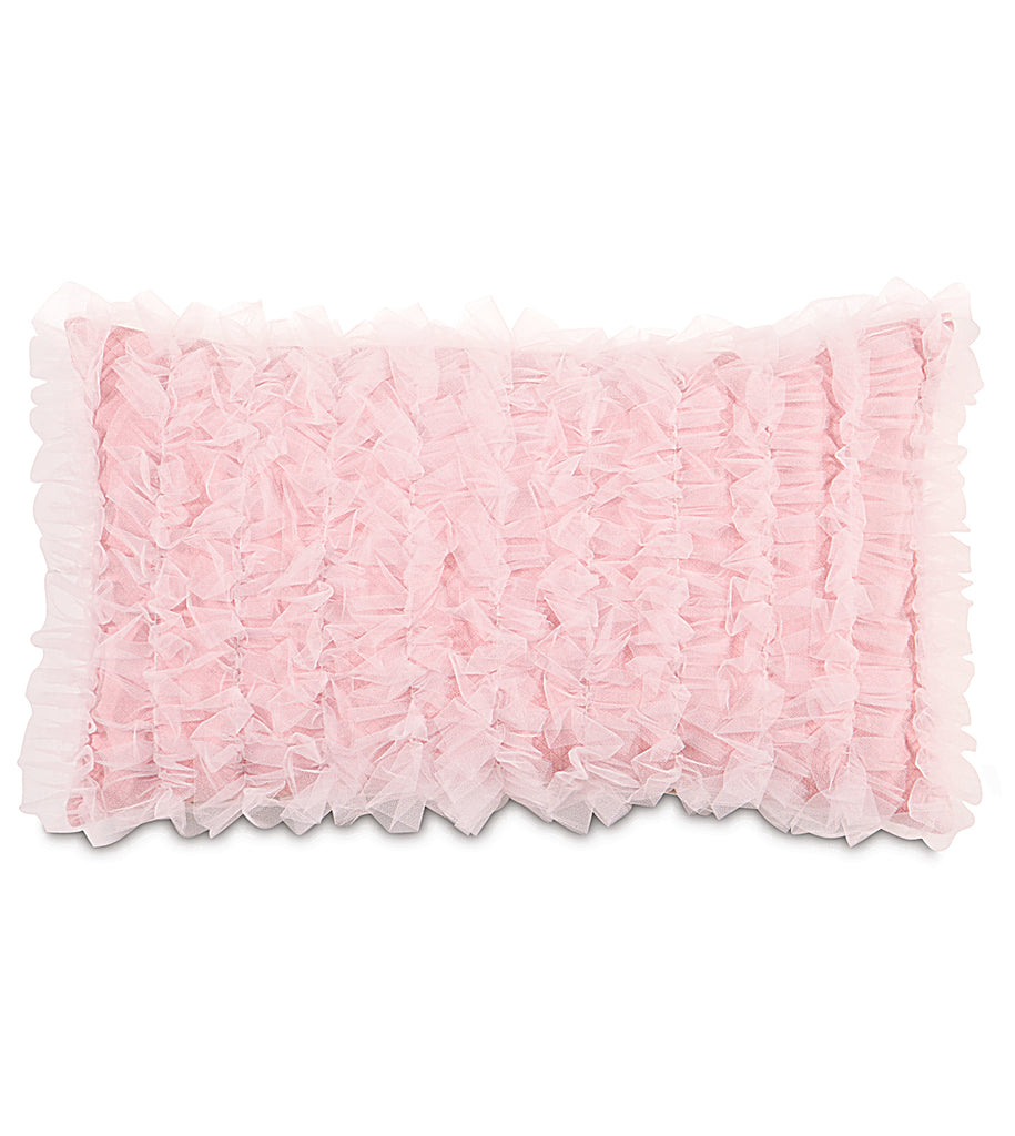"13"" x 22"" Ballet Blush Pink Lace Pillow Cover"