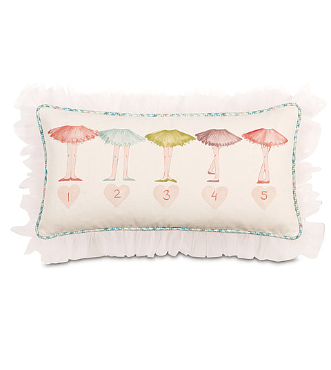 "11"" x 21"" Ballet Dancing Hand Painted Decorative Pillow Cover"