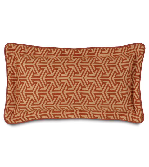 "Le Monde Graphic Decorative Pillow Cover 11"" x 21"""