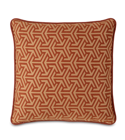 "Le Monde Graphic Decorative Pillow Cover 18"" x 18"""