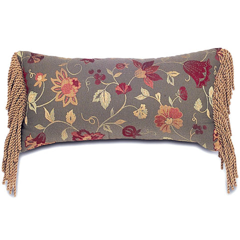 "Monticello Flowers Decorative Pillow Cover 11"" x 21"""