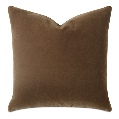 Saddle Brown Luxury Mohair Decorative Pillow- Marrone