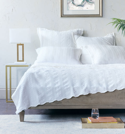 Millennium Cloud White Coverlet