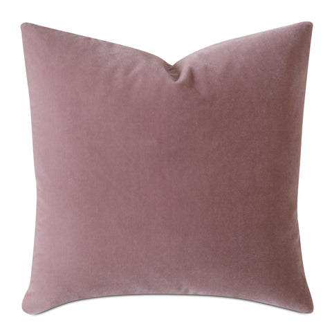 Blush Pink Luxury Mohair Euro Sham Cover - Minstrel Rose