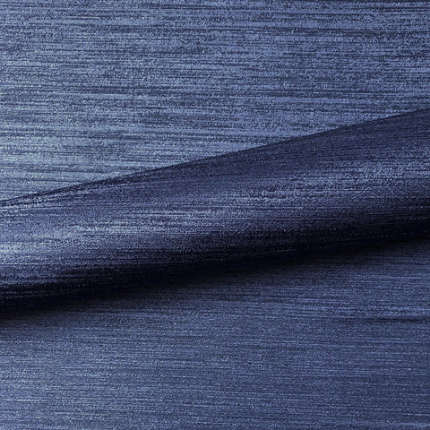 Navy Blue Contemporary Silk Upholstery Fabric 54""