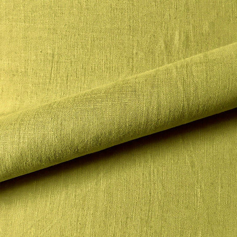 Chartreuse Mod Solid Linen Blend Upholstery Fabric 54""