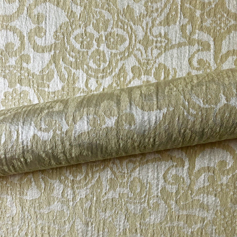 Champagne Traditional Damask Jacquard Upholstery Fabric 54""