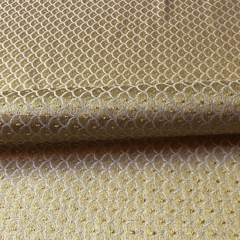 Gold Glam Scalloped Jacquard Upholstery Fabric 54""