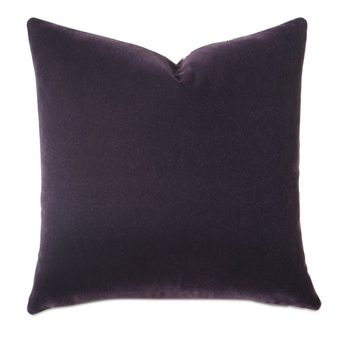 Purple Luxury Mohair Decorative Pillow- Plumerian