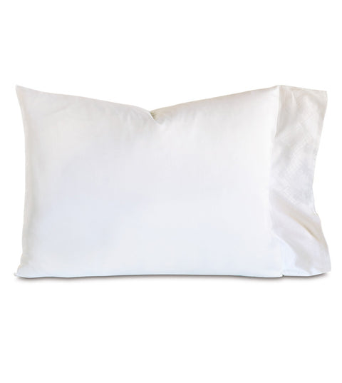"Iris White Jacquard King Pillowcase 21""x37"""