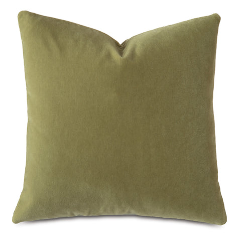 Lime Green Luxury Mohair Euro Sham Cover - Royal Mushroom
