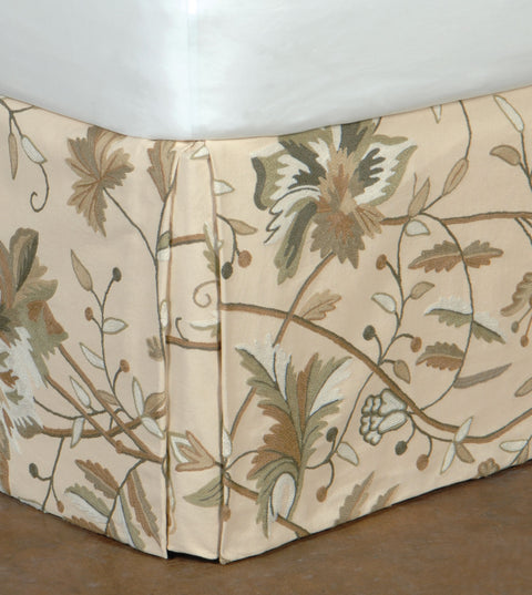 Franklin Wool Embroidered Bed Skirt (Queen 60x80)