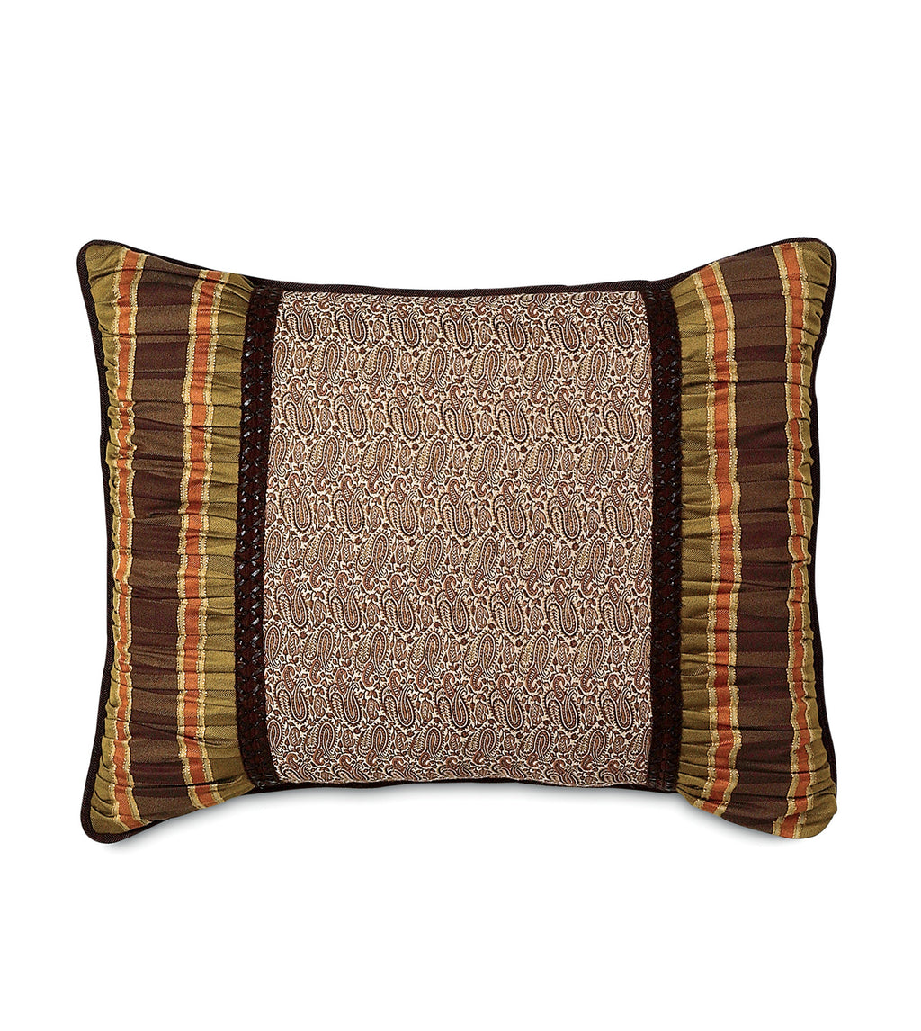 "20"" x 27"" Broderick Brown Paisley Standard Sham Pillow Cover"