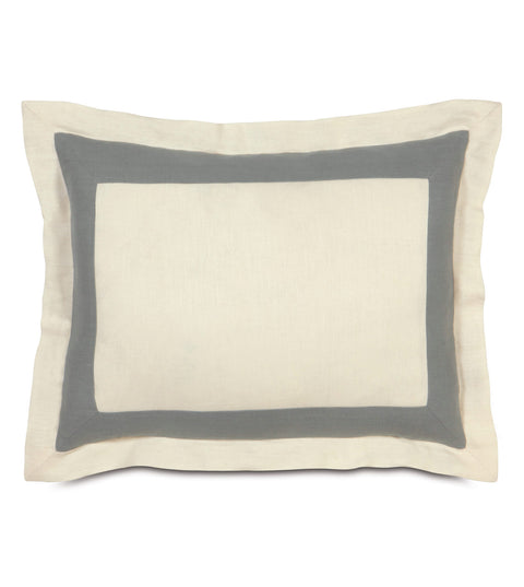 "Luxury Pearl Linen Bed Sham Cover 20"" x 27"""