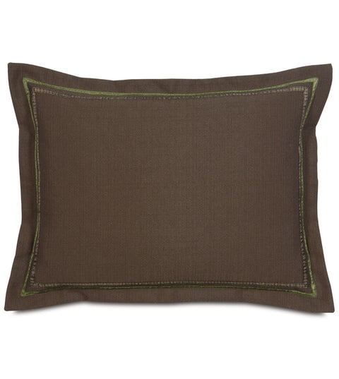 "Brown Textured Standard Sham Cover 20"" x 27"""