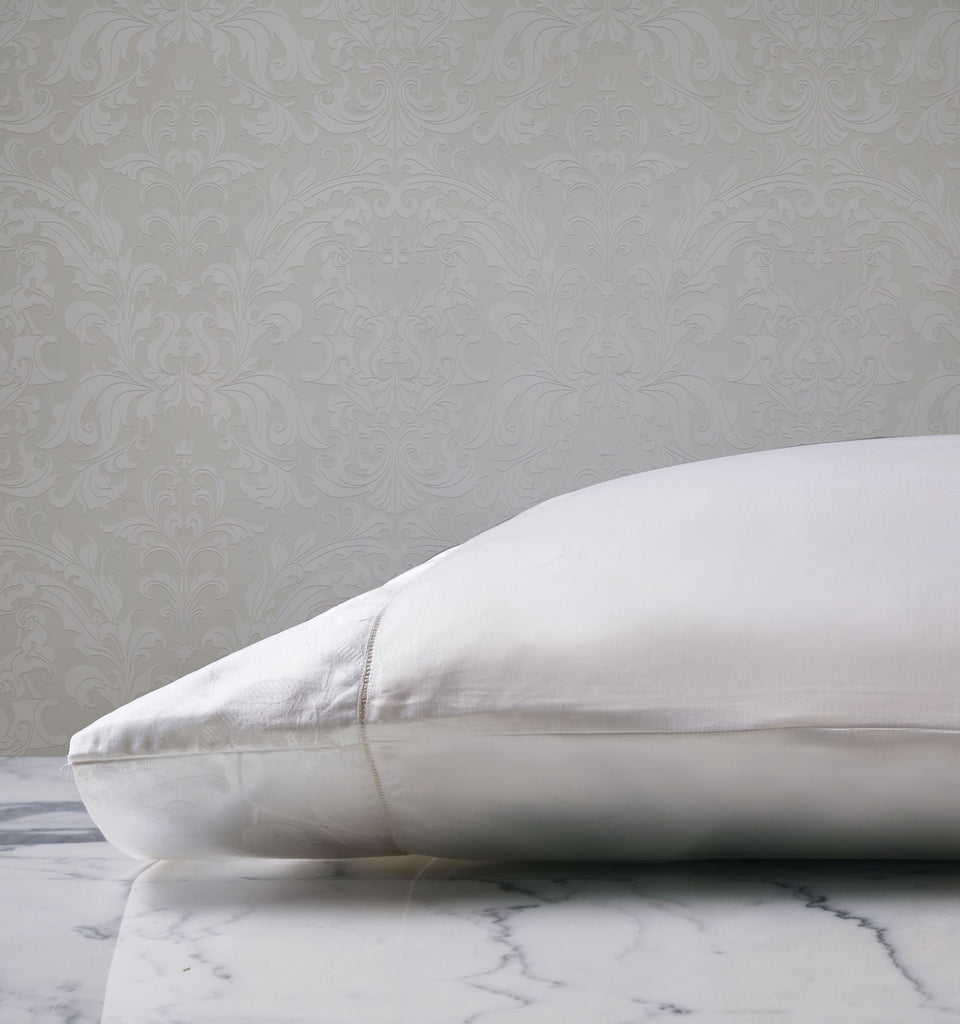 Georgette White Jacquard Pillowcase