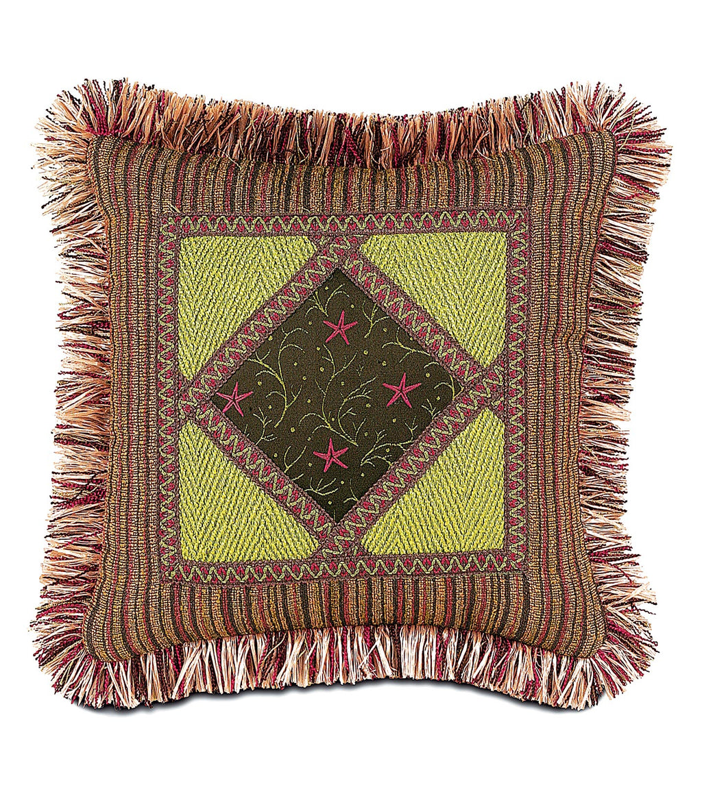 "Tahiti Star Tropical Outdoor Decorative Pillow Cover 16"" x 16"""