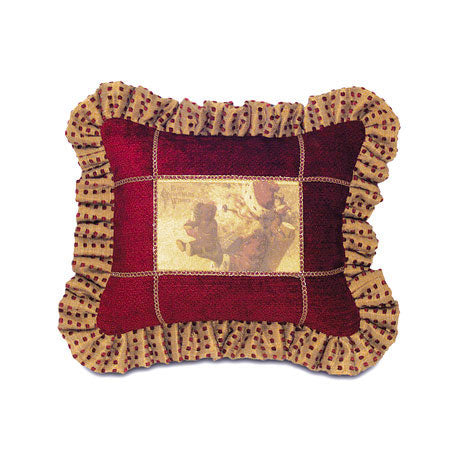 Ruby Red Santa Design Decorative Pillow Cover 12x14