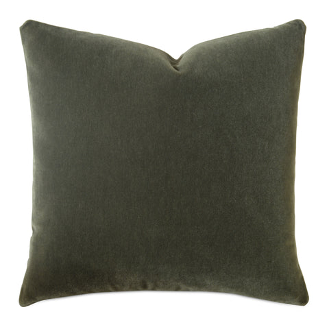 Forest Green Luxury Mohair Euro Sham - Terraine