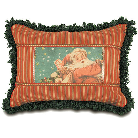 "'Santa with Toys' Decorative Throw Pillow 13""x18"""