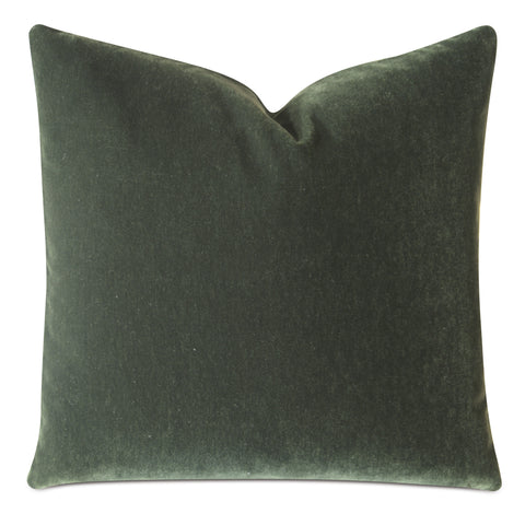 Emerald Green Luxury Mohair Euro Sham Cover - Verdiche