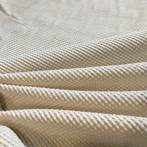 Luxury Ivory Cream Textured Upholstery Fabric - 56""