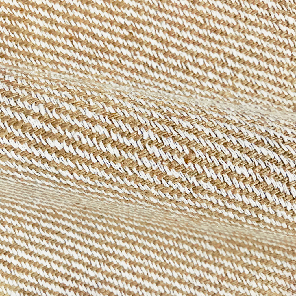 Ivory and Tan Luxury Woven Upholstery Fabric 54""