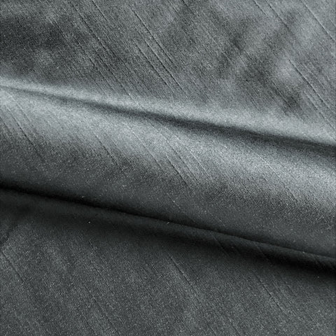 Steel Gray Shantung Silk Solid Fabric - 54""