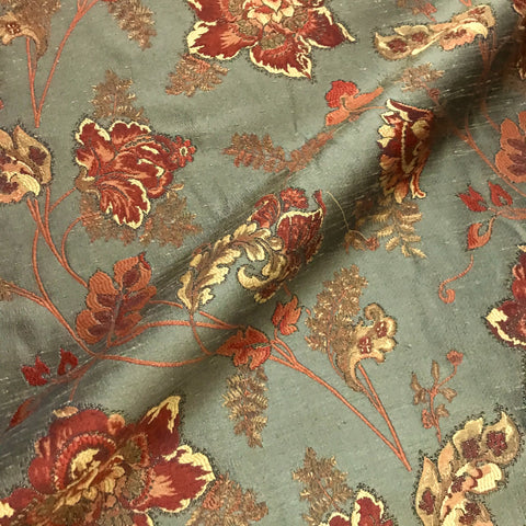 Marny Mid Century Style Floral Upholstery Fabric - 58""
