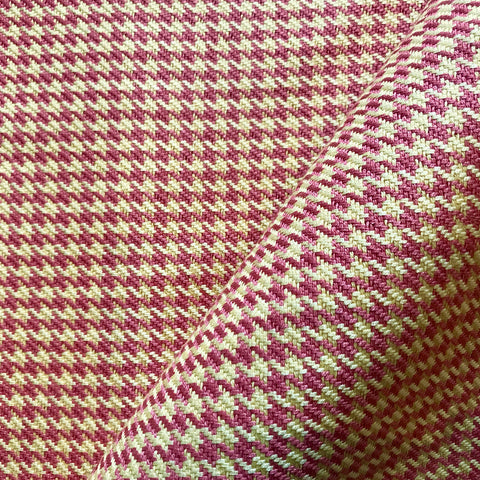 Pink Yellow Houndstooth Upholstery Fabric