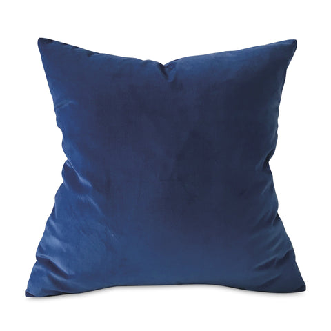 "Ocean Blue Lux Velvet Throw Pillow Cover 22""x22"""